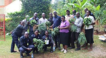 Picture taken after the training for support staff on vegetable production